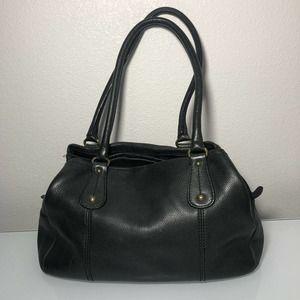 Fossil Leather handbag Black Vintage Purse